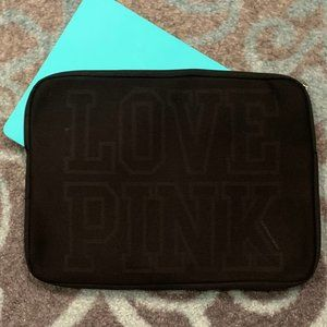 Victoria Secret PINK Zip Laptop Case - BLACK